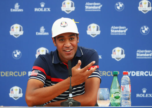 Rookie Tony Finau is having a ball with the US team in Paris.