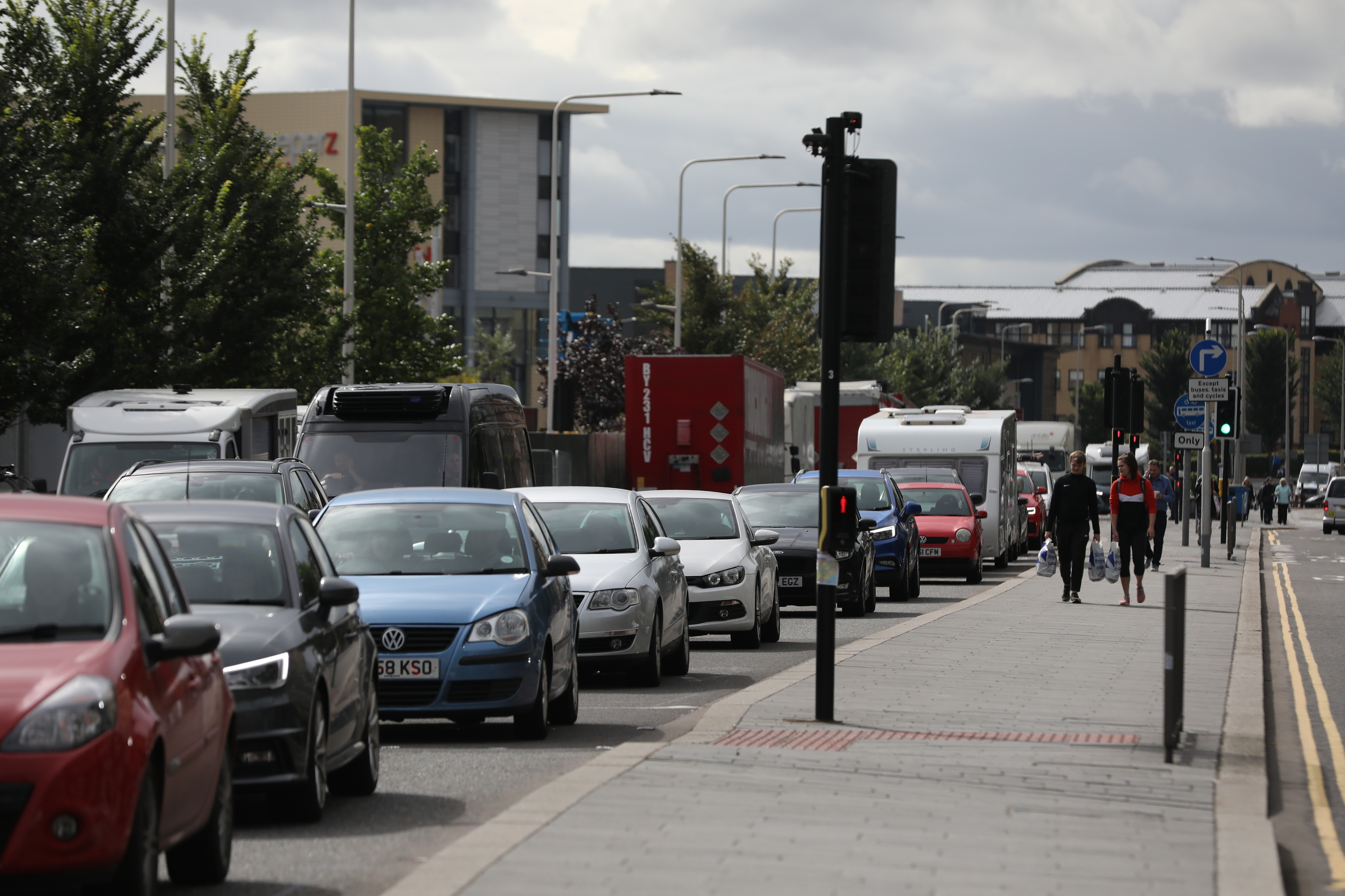 Traffic delays in Dundee city centre ahead of the 3D Festival.