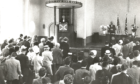 A service at the Rotterdam Kirk in 1970