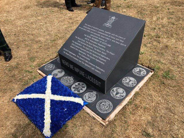 The NMA Black Watch memorial with the correct insignia