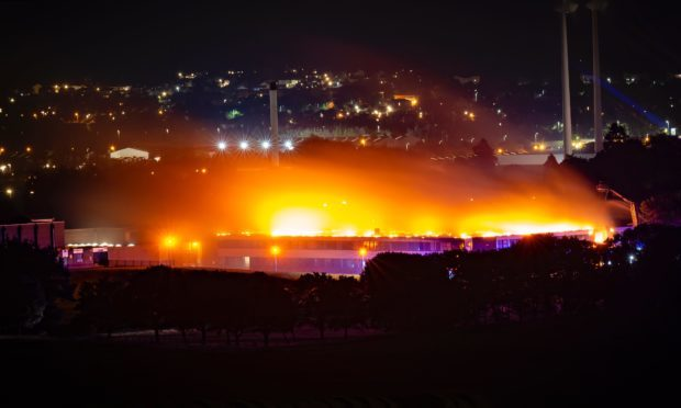 The fire at Braeview. Credit: Scott McBride - Point One Photography