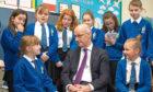 Deputy First Minister John Swinney visits Maisondieu Primary School.