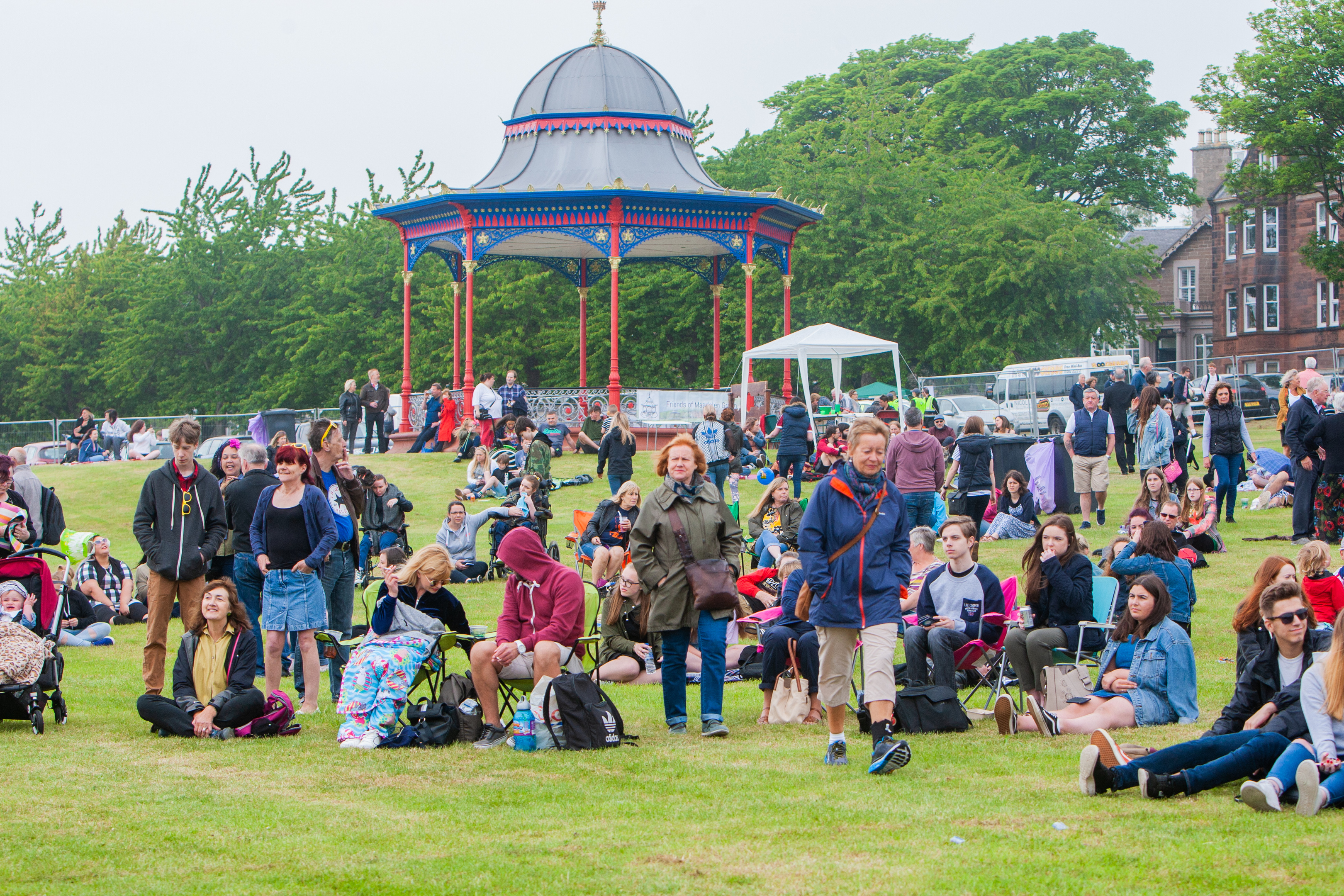 Crowds on Magdalen Green at this year's WestFest