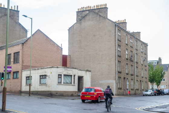 Where the mural is to be painted on the corner of Cardean Street.