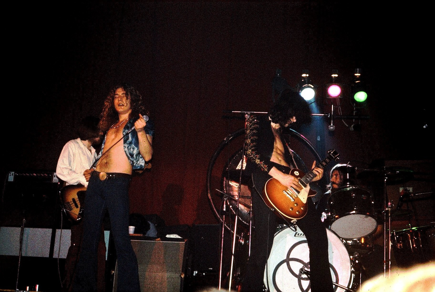 Led Zeppelin performing in Dundee in 1973.