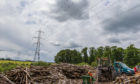 Pylons on the Bertha Park site (July 2017)