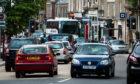 Traffic on Crieff High Street.