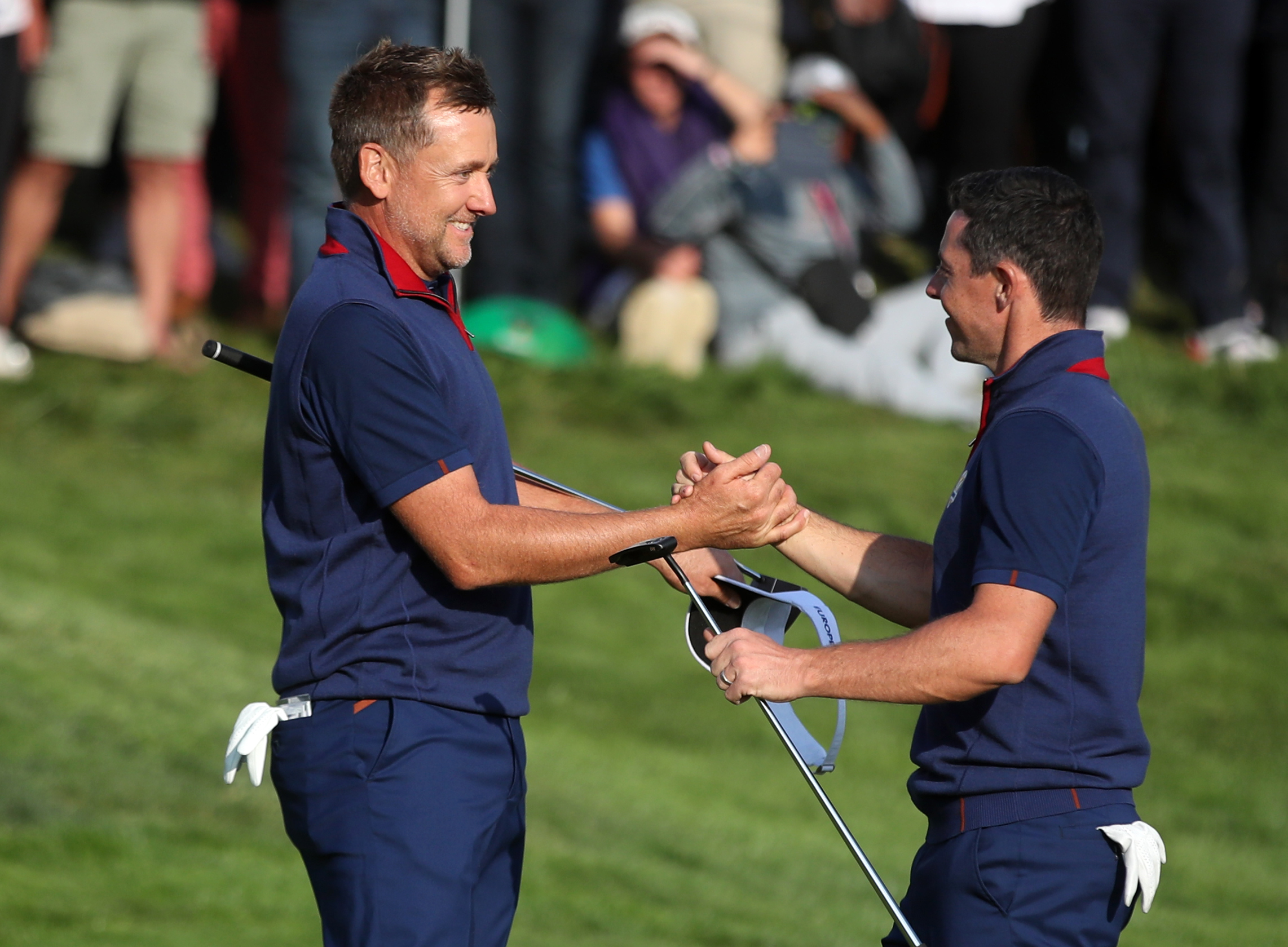Ian Poulter teamed up to get Rory McIlroy back on track at the Ryder Cup.