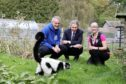 Course leader Chris Ditchburn, David Grant (SQA) and lecturer Kirsty Crouch with the park's Ruff Lemurs