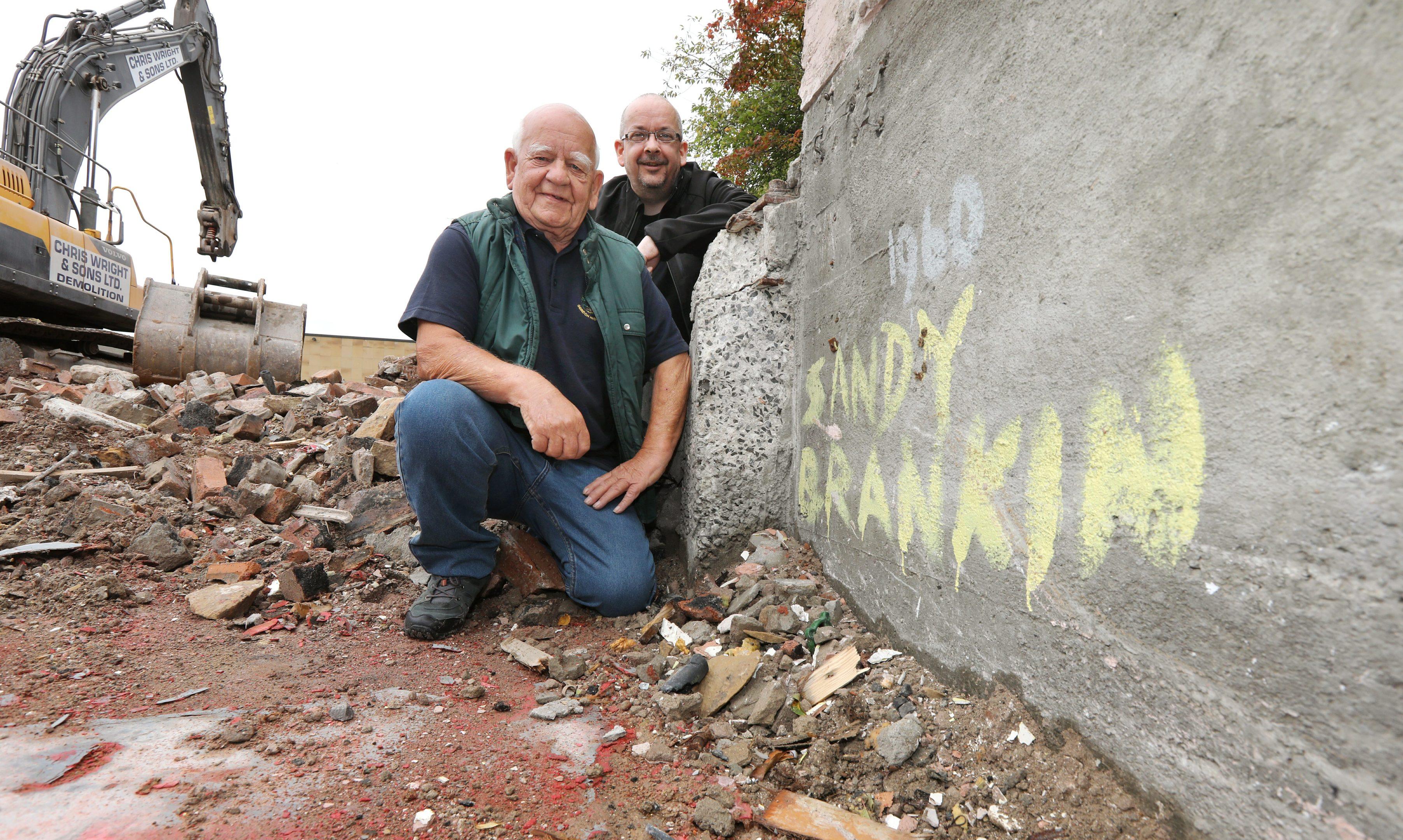 Sandy Brankin and son Derek.
