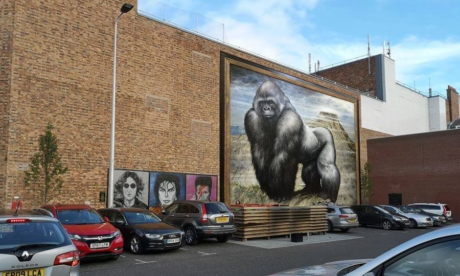 An artist impression of how the gorilla artwork could look