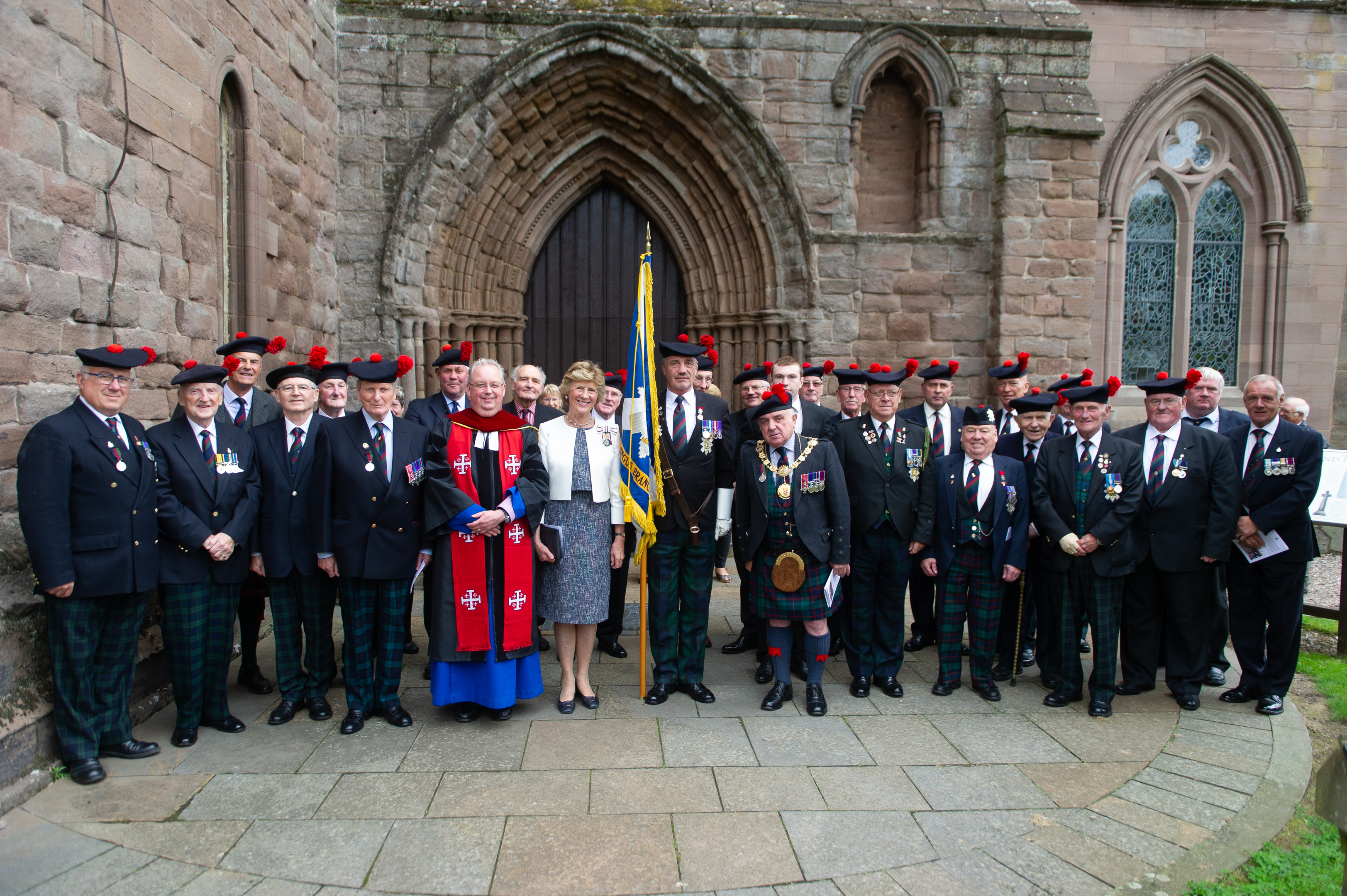 Angus Branch members who attended the service