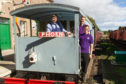 Chris Pegg, Andy Pegg and Kaine Bisset led restoration of the brake van