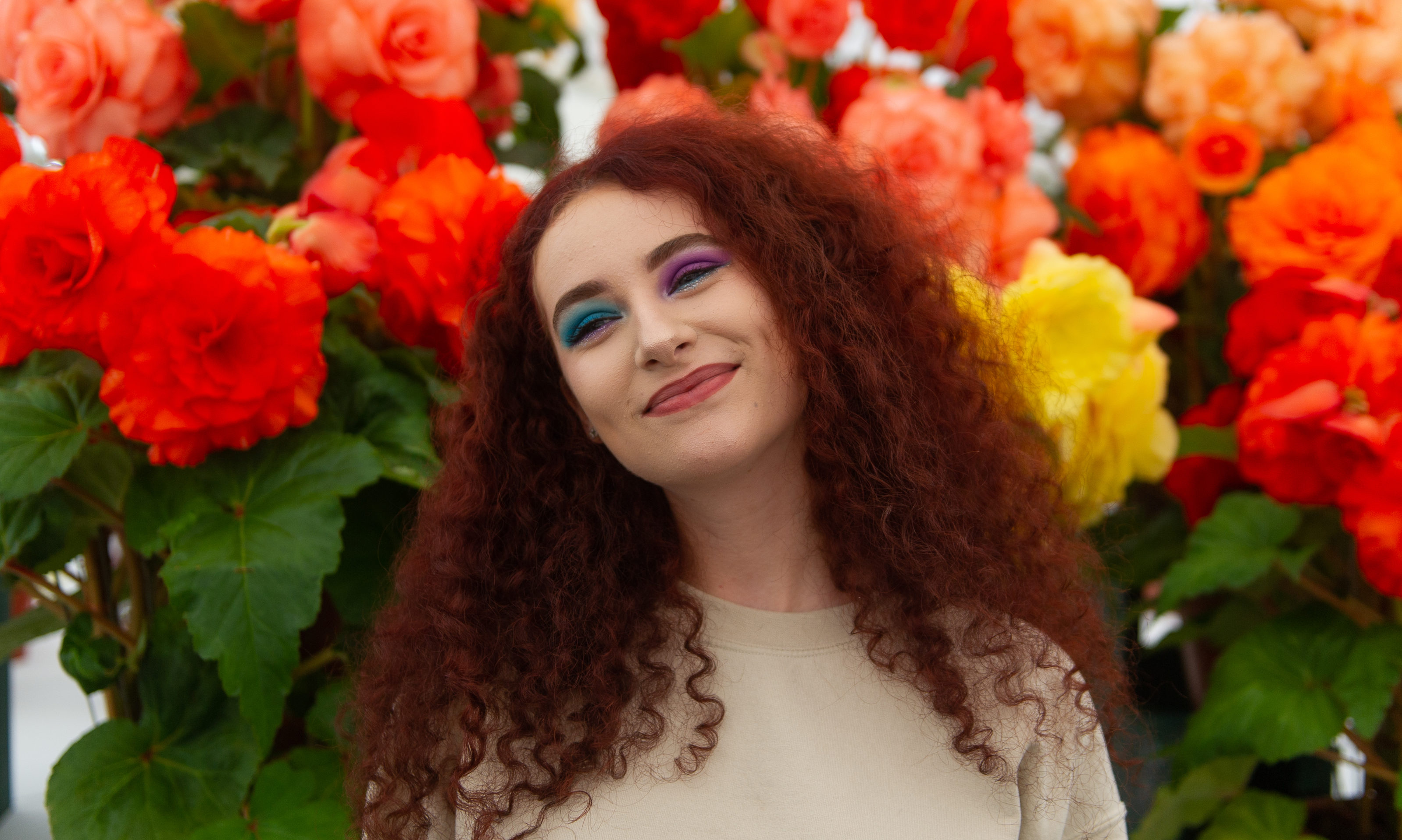 Jodie Milne, 17, at the 2018 Dundee Flower and Food Festival.