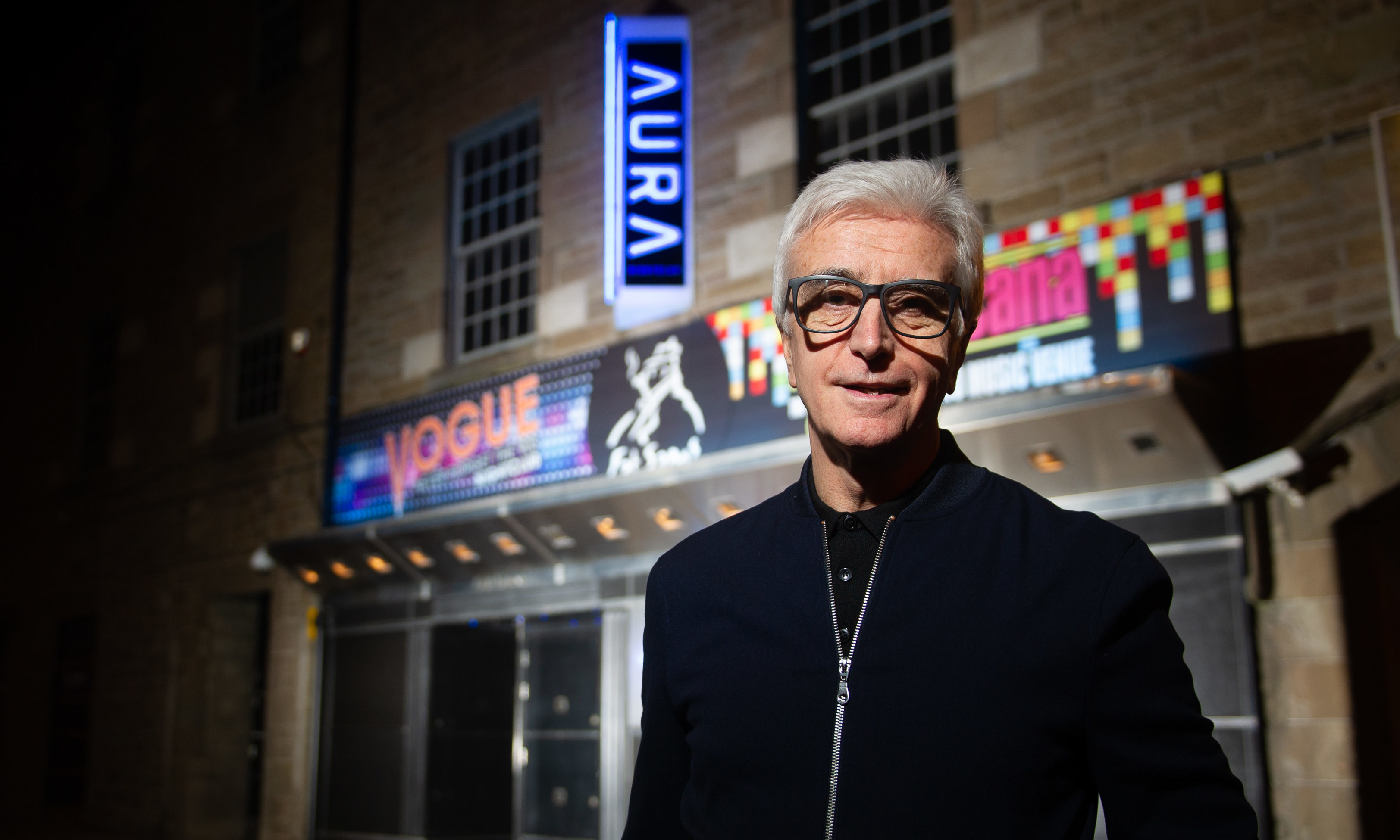 Tony Cochrane outside his new nightclub, Aura.