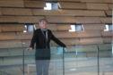 Kengo Kuma inside his V&A Dundee museum.