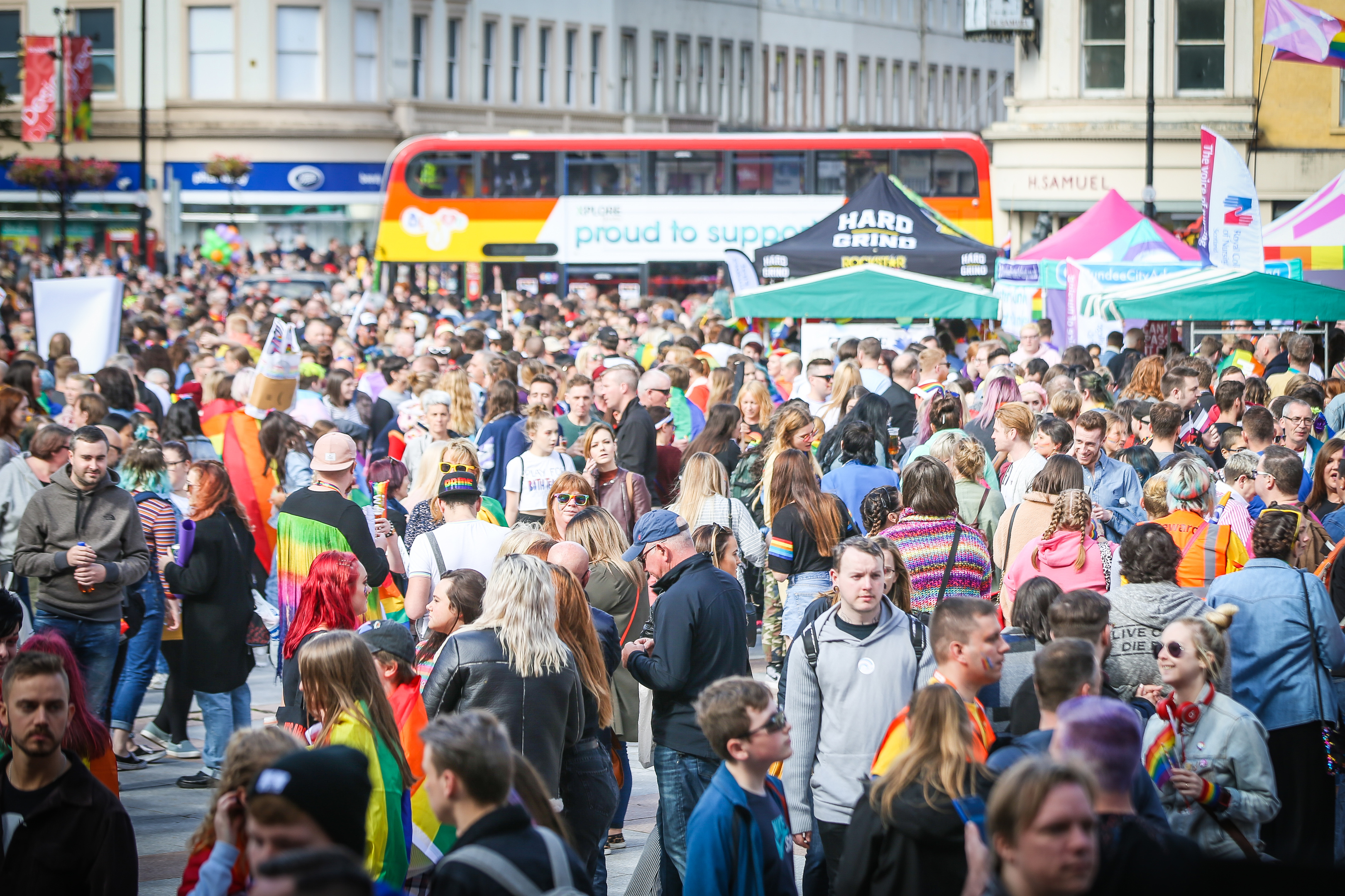Dundee city centre was a sea of colours.