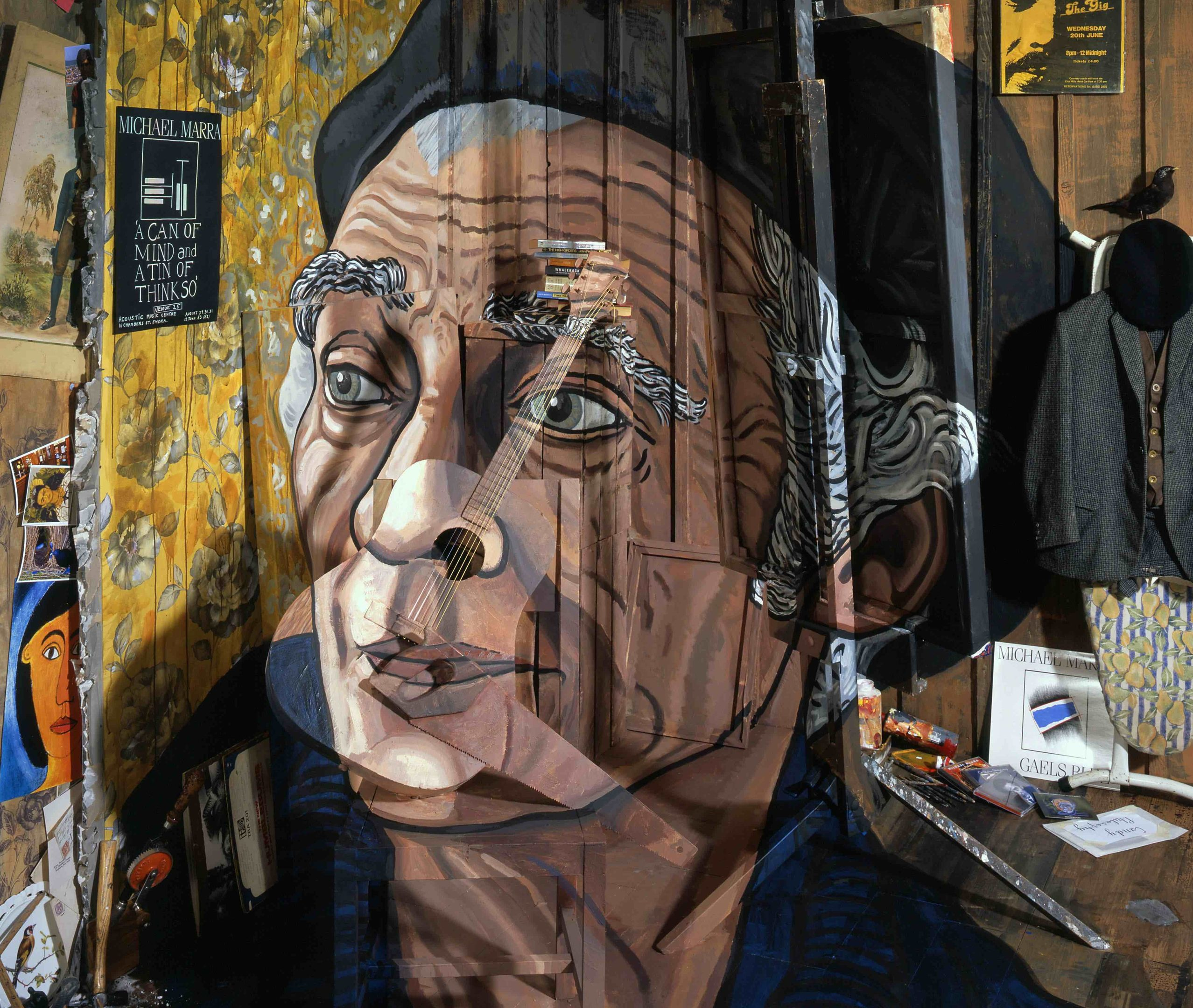 Calum Colvin RSA 's work depicting the late Dundee musician Michael Marra