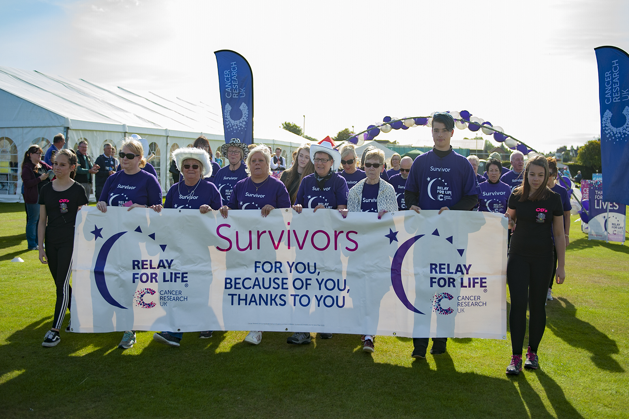 The survivors' lap of honour took place in Angus sunshine