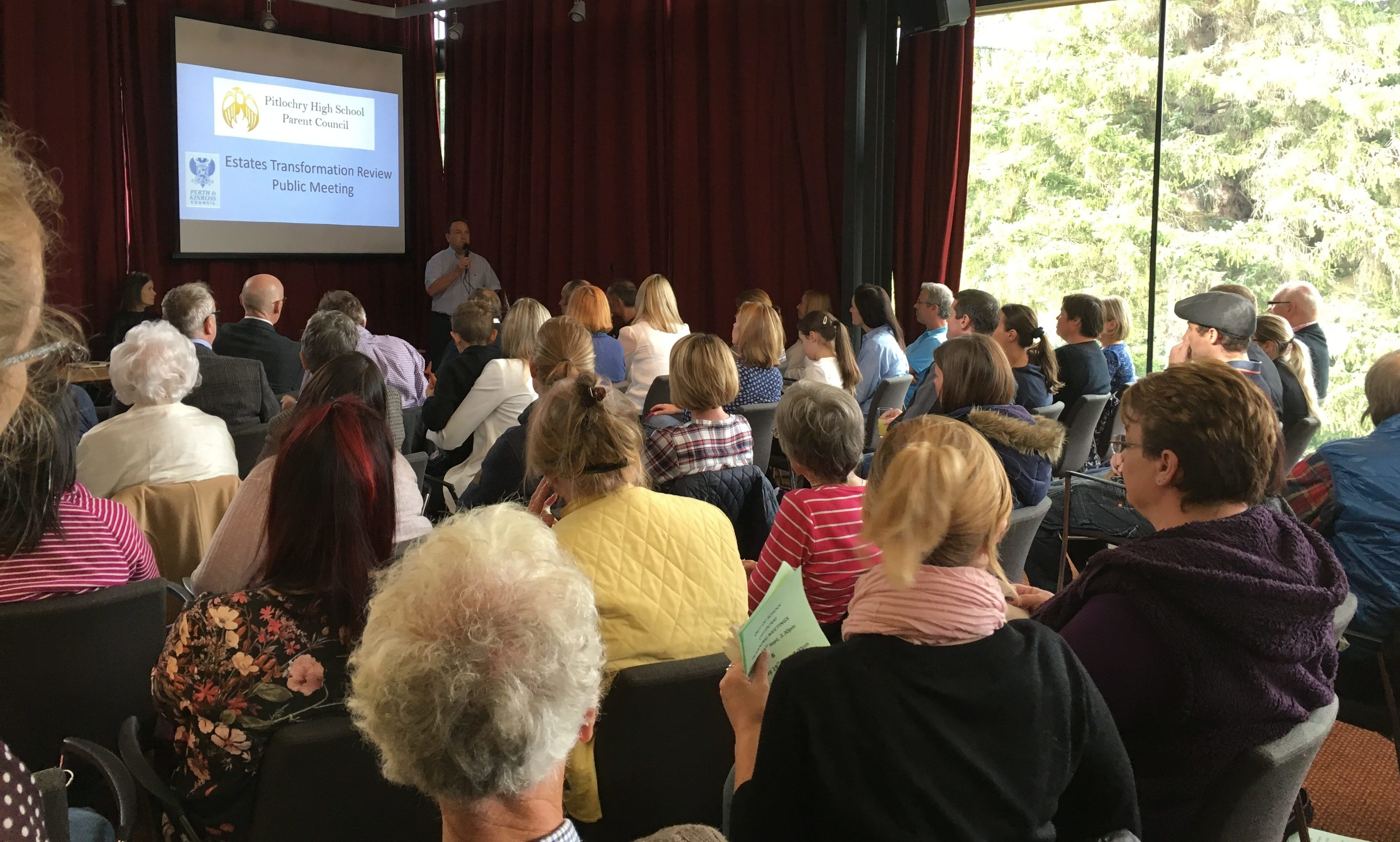 Parents gathered at Pitlochry Festival Theatre to discuss the future of the local high school.