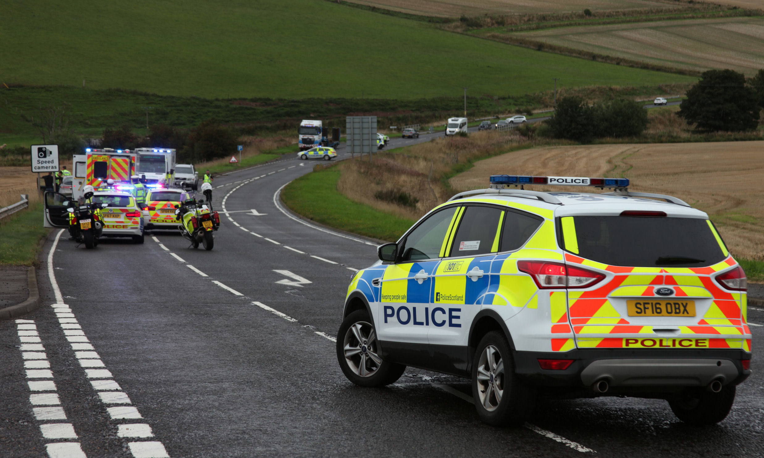 The crash on the A92 Arbroath to Montrose.
