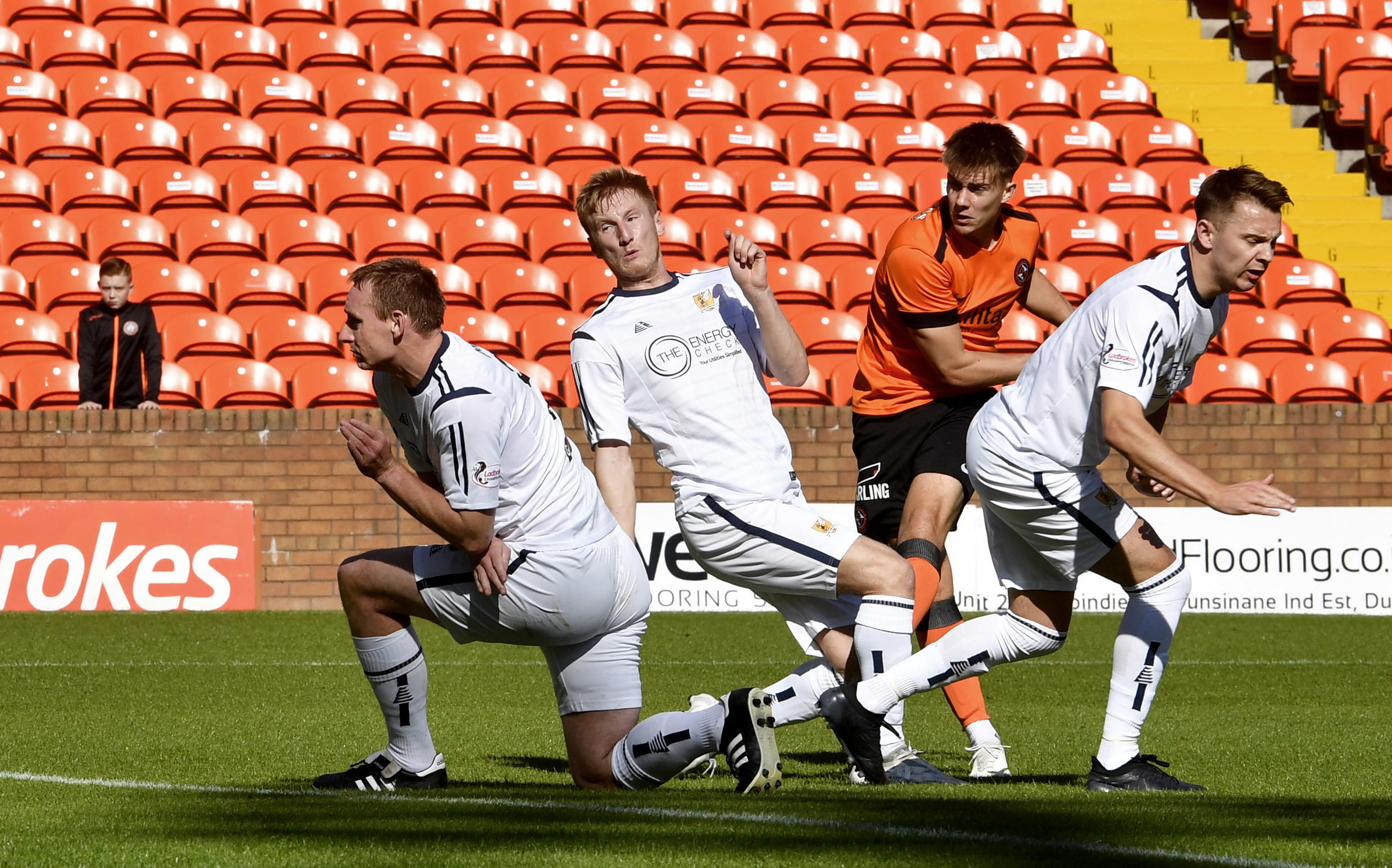 Matty Smith scoring against Alloa in the Irn-Bru Cup earlier this season.