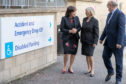 Health Secretary Jeane Freeman (left) with NHS Fife chairwoman Tricia Marwick and chief executive Paul Hawkins during a previous visit to Victoria Hospital, Kirkcaldy