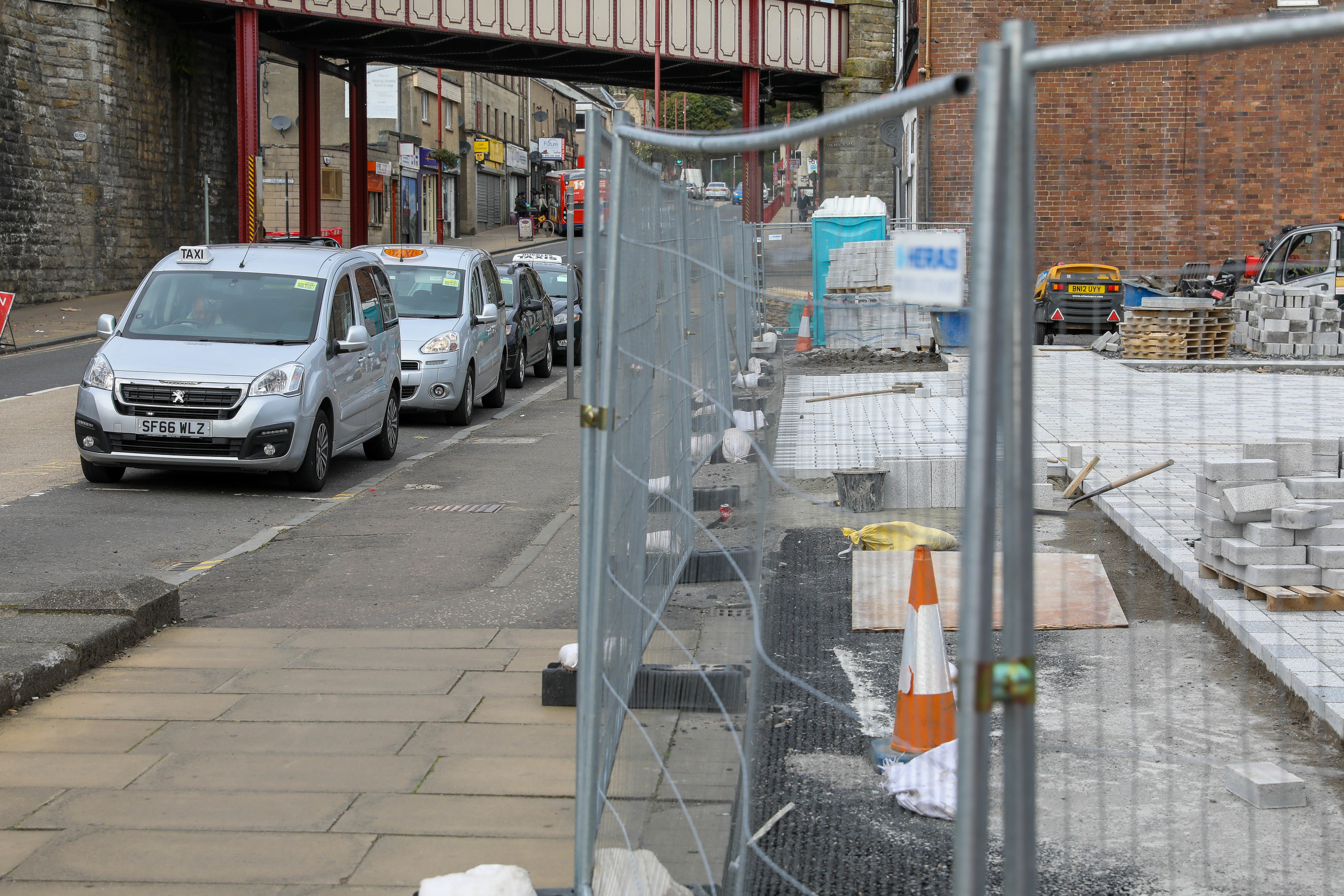 Work has already started on the events space in the green square.