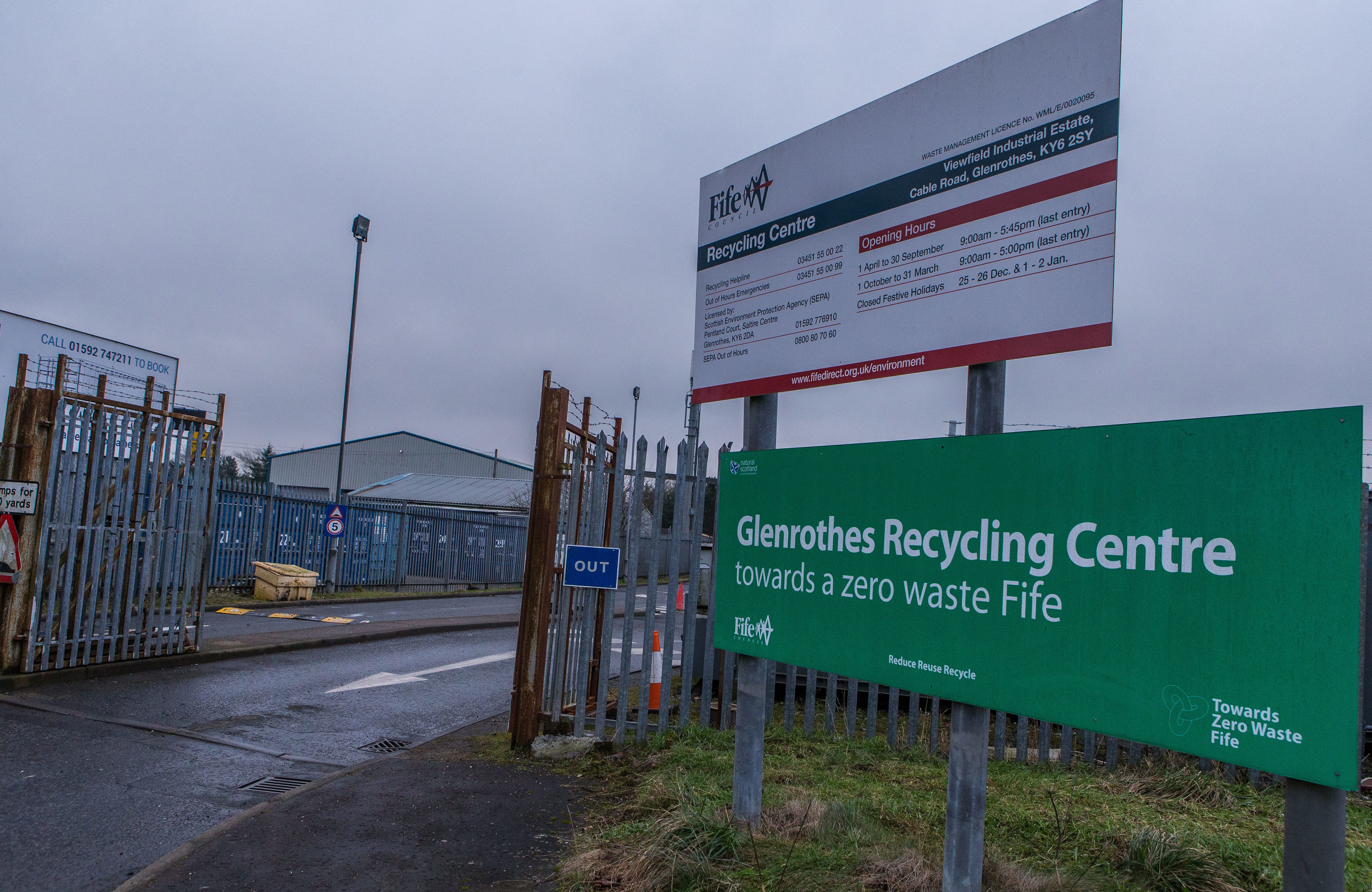 Glenrothes recycling centre.
