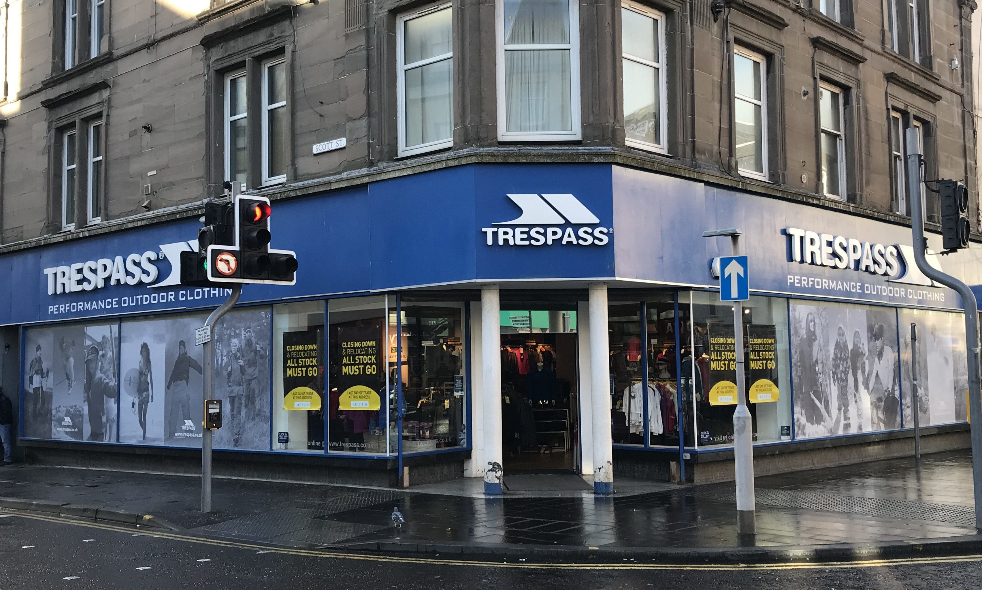 The Trespass store in Perth