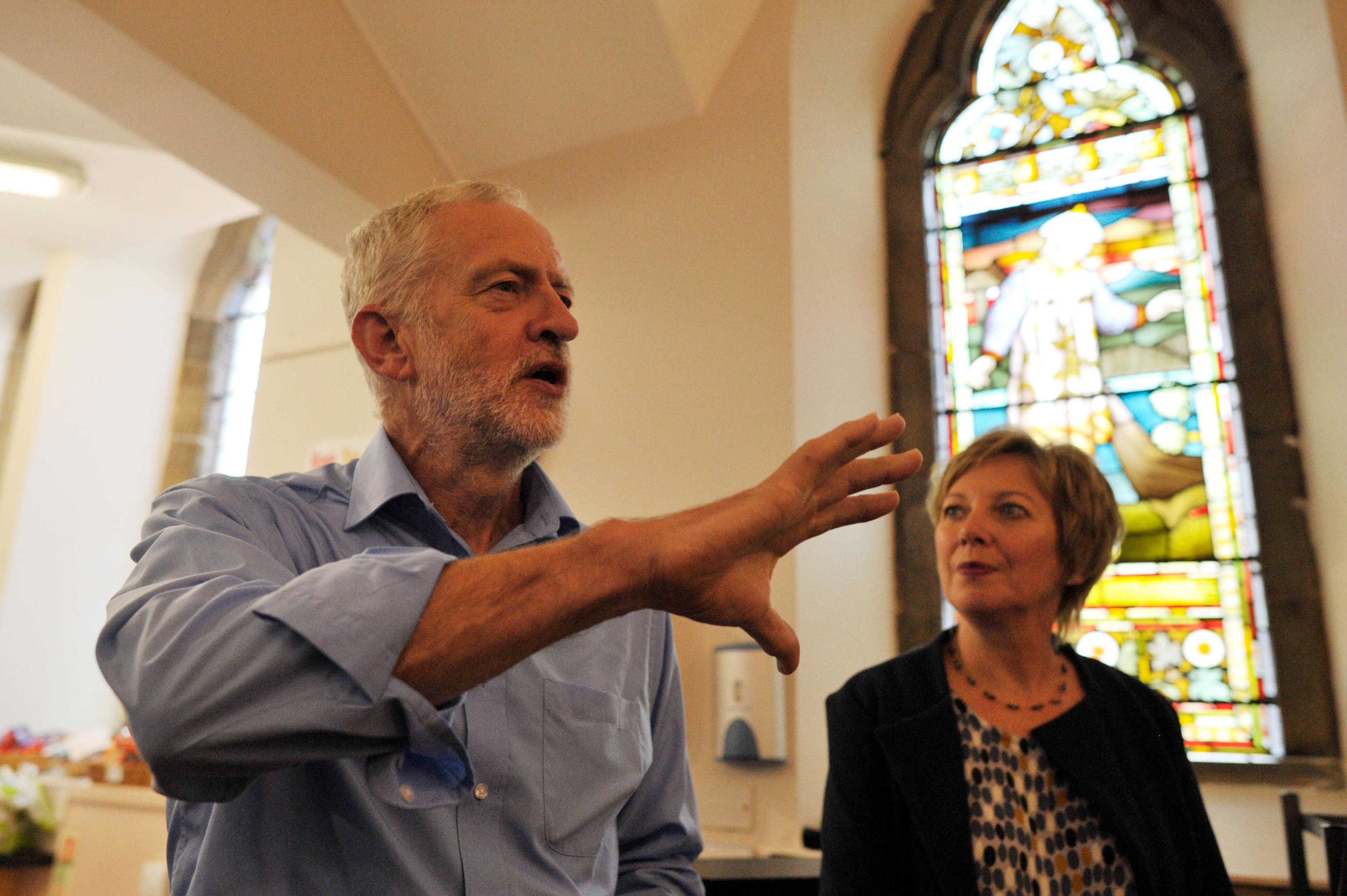 Jeremy Corbyn and Lesley Laird in Kirkcaldy last year.