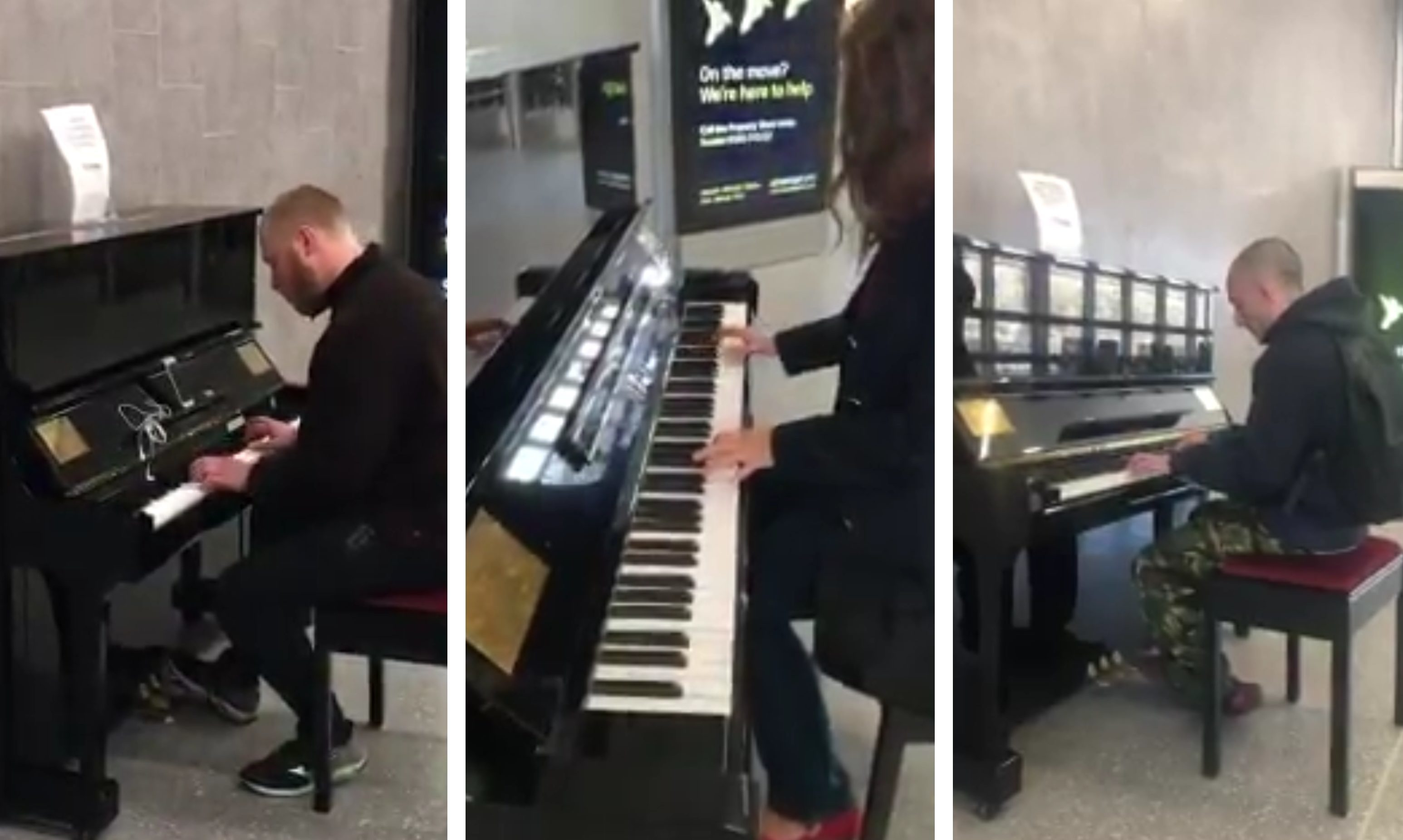 Dundee's new Peoples Piano being played.