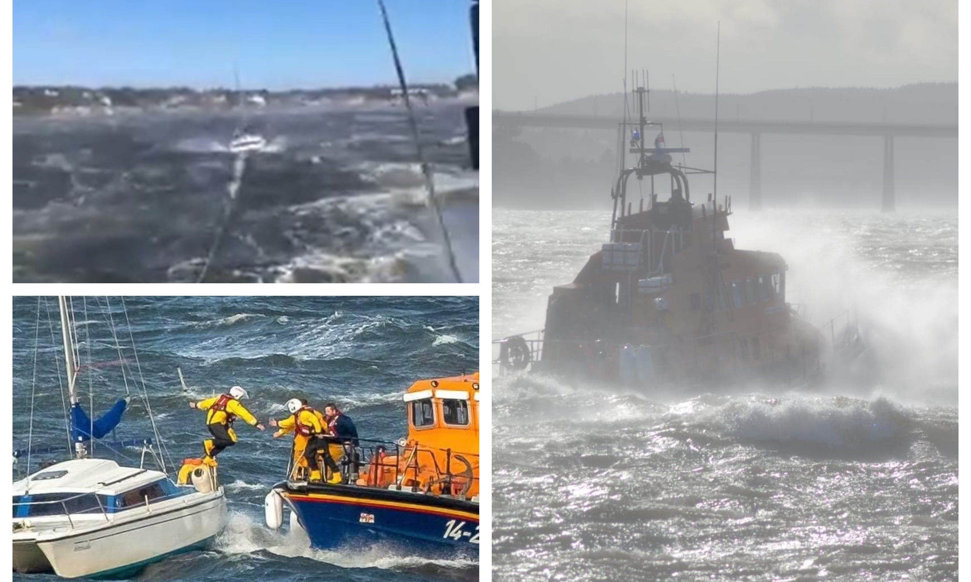 Photos from a busy day for the Broughty Ferry RNLI during Storm Ali.