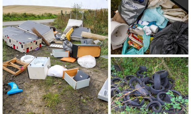 Some examples of fly-tipping n Fife last year