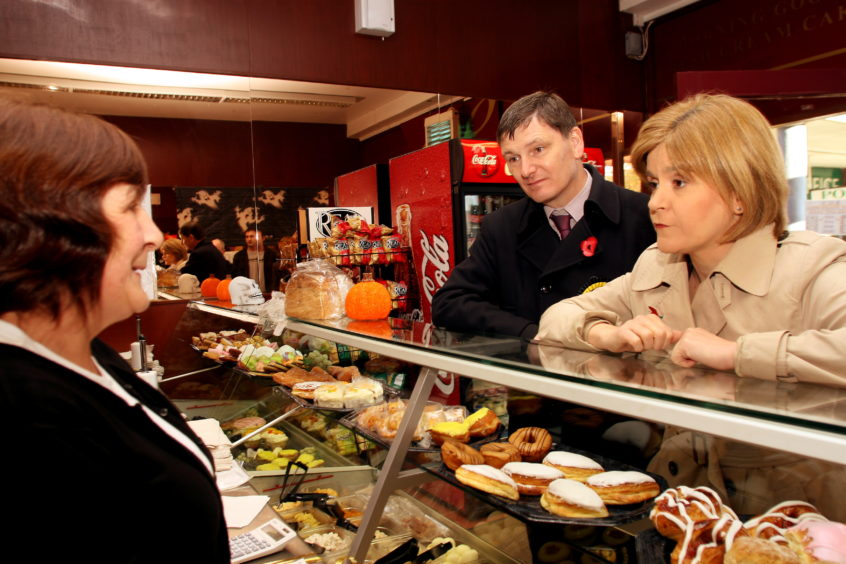 Then Deputy First Minister Nicola Sturgeon was in Glenrothes with Peter Grant a SNP candidate in the forthcoming by-election.