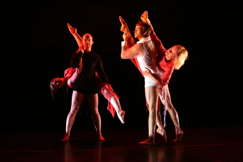 Dancers from The Space in Dundee took part in a production called 'It's a Sin'.