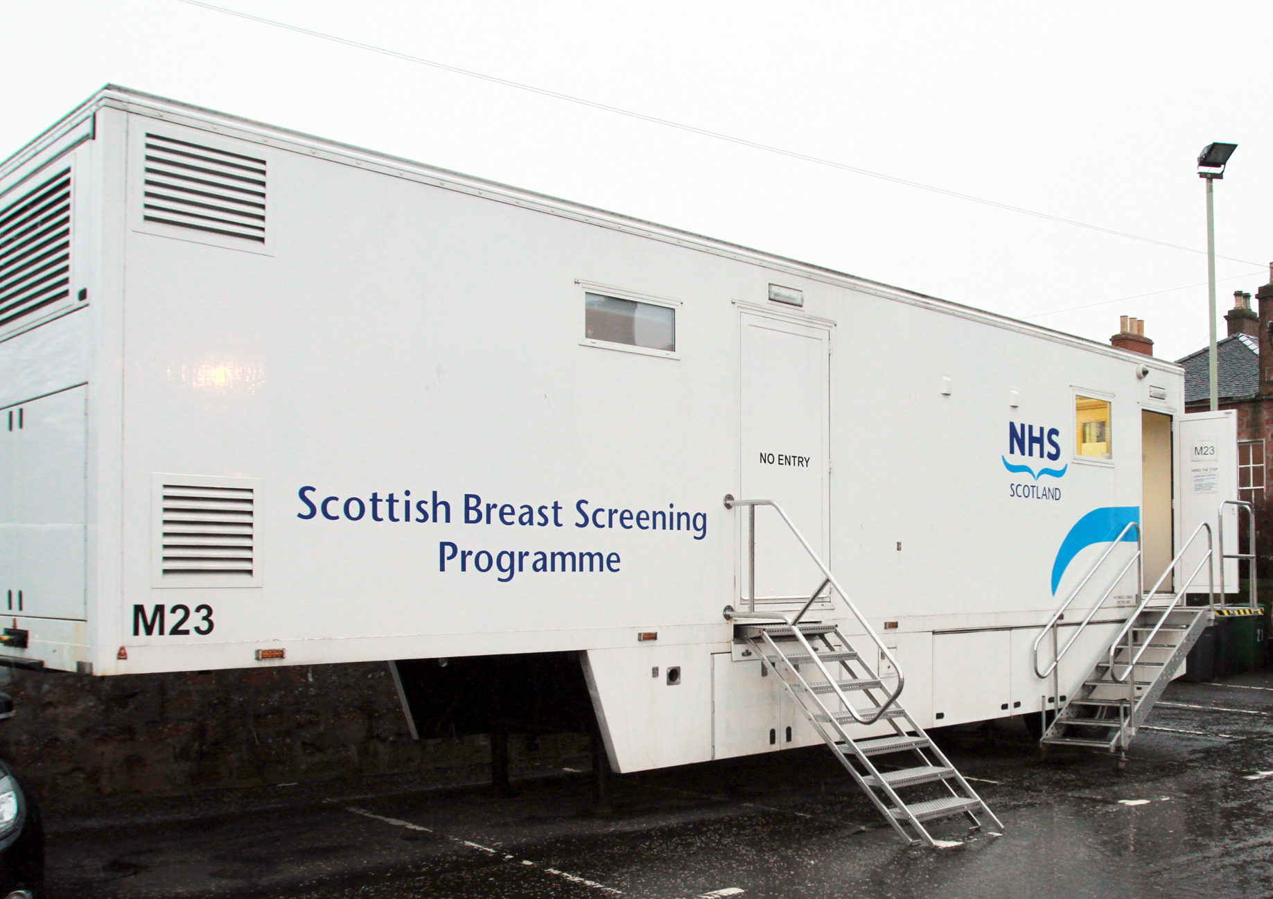 A NHS breast screening unit.
