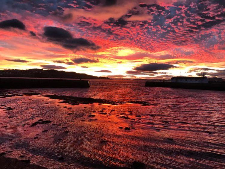 Broughty Ferry at sundown.
