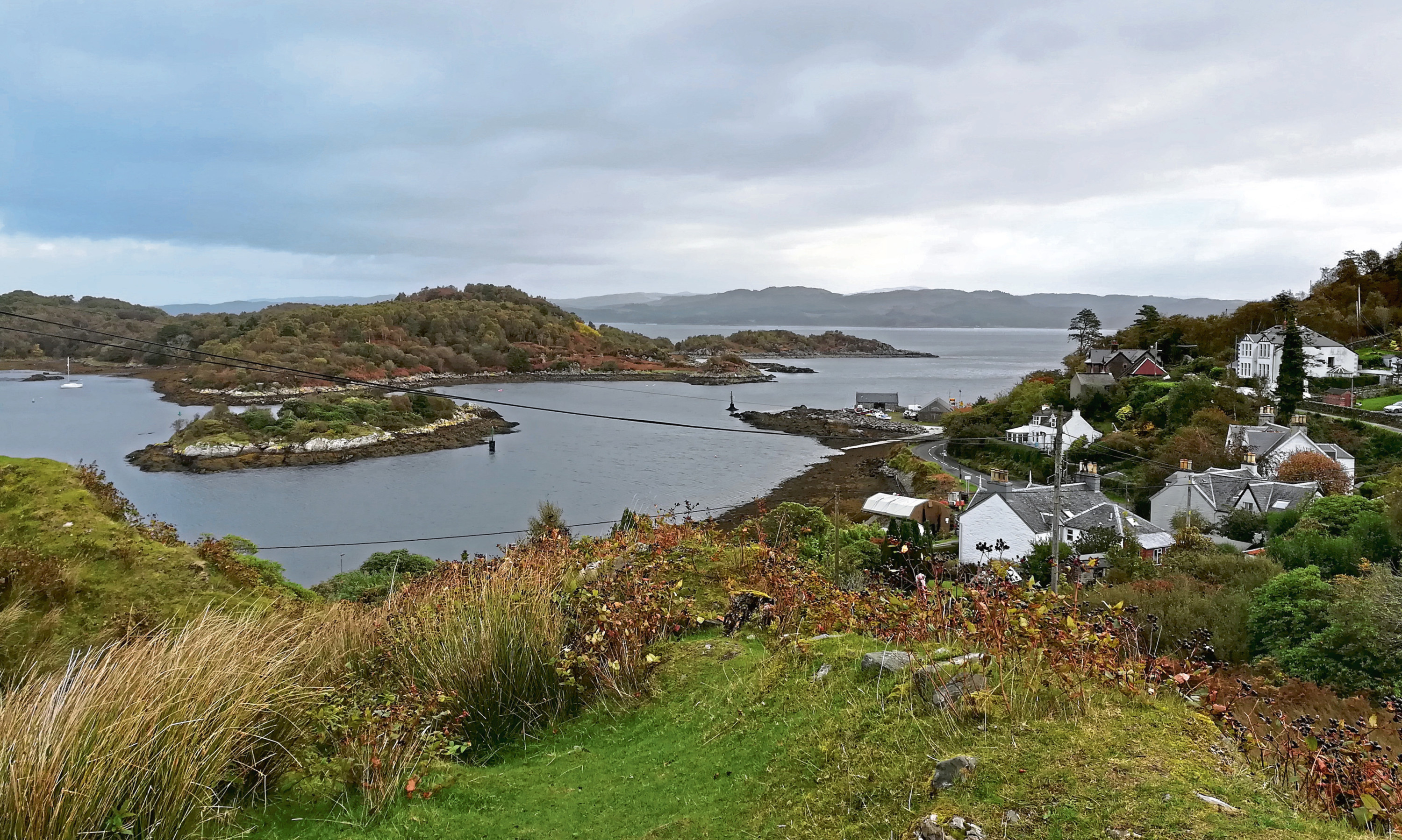 Picture postcard: A panorama out to Loch Fyne from Tarbert, Argyll.