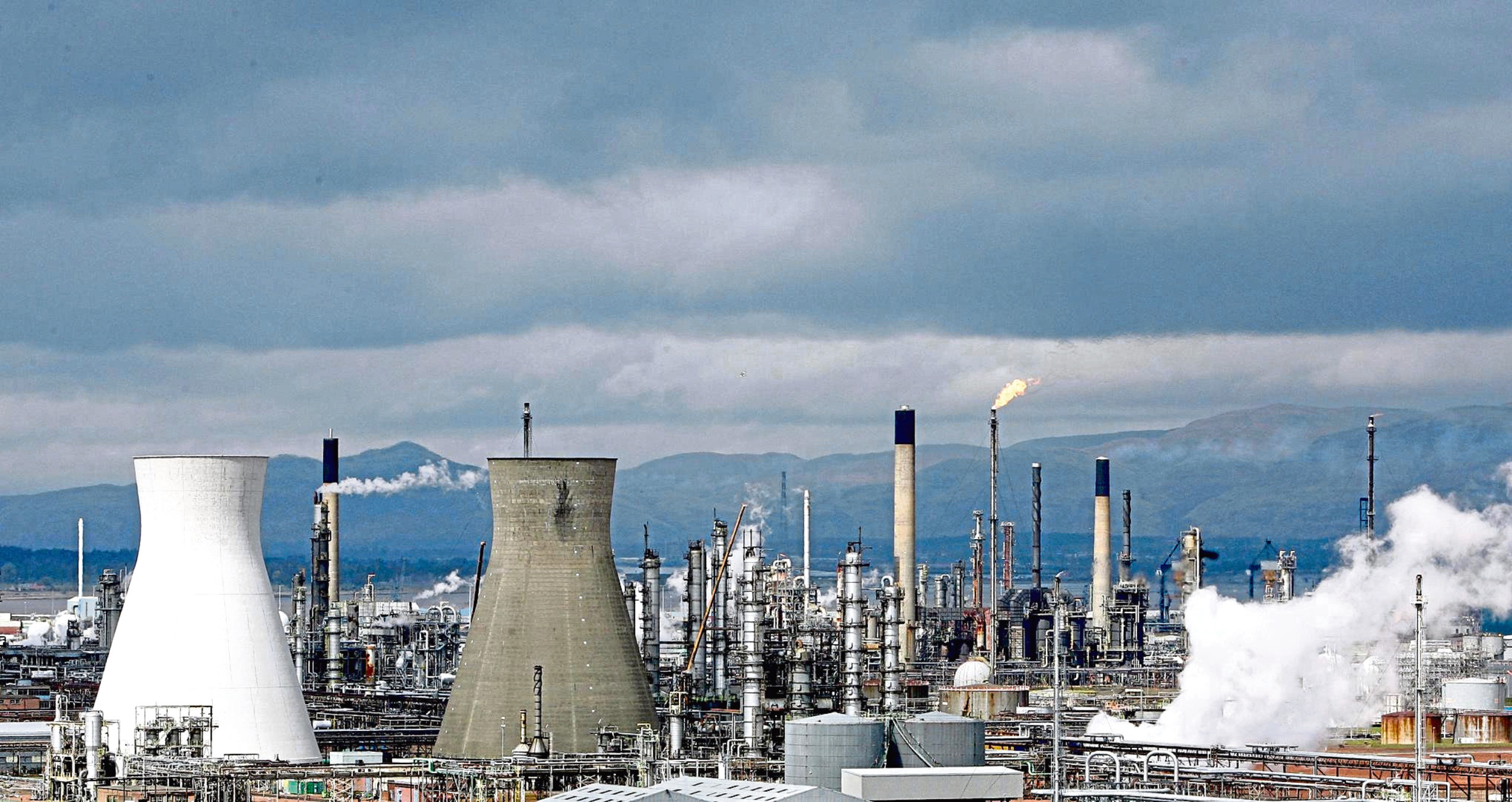 A general view of the refinery at Grangemouth. Picture: PA