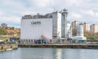 Carrs flour mill building at Kirkcaldy harbour. Picture: Steven Brown.