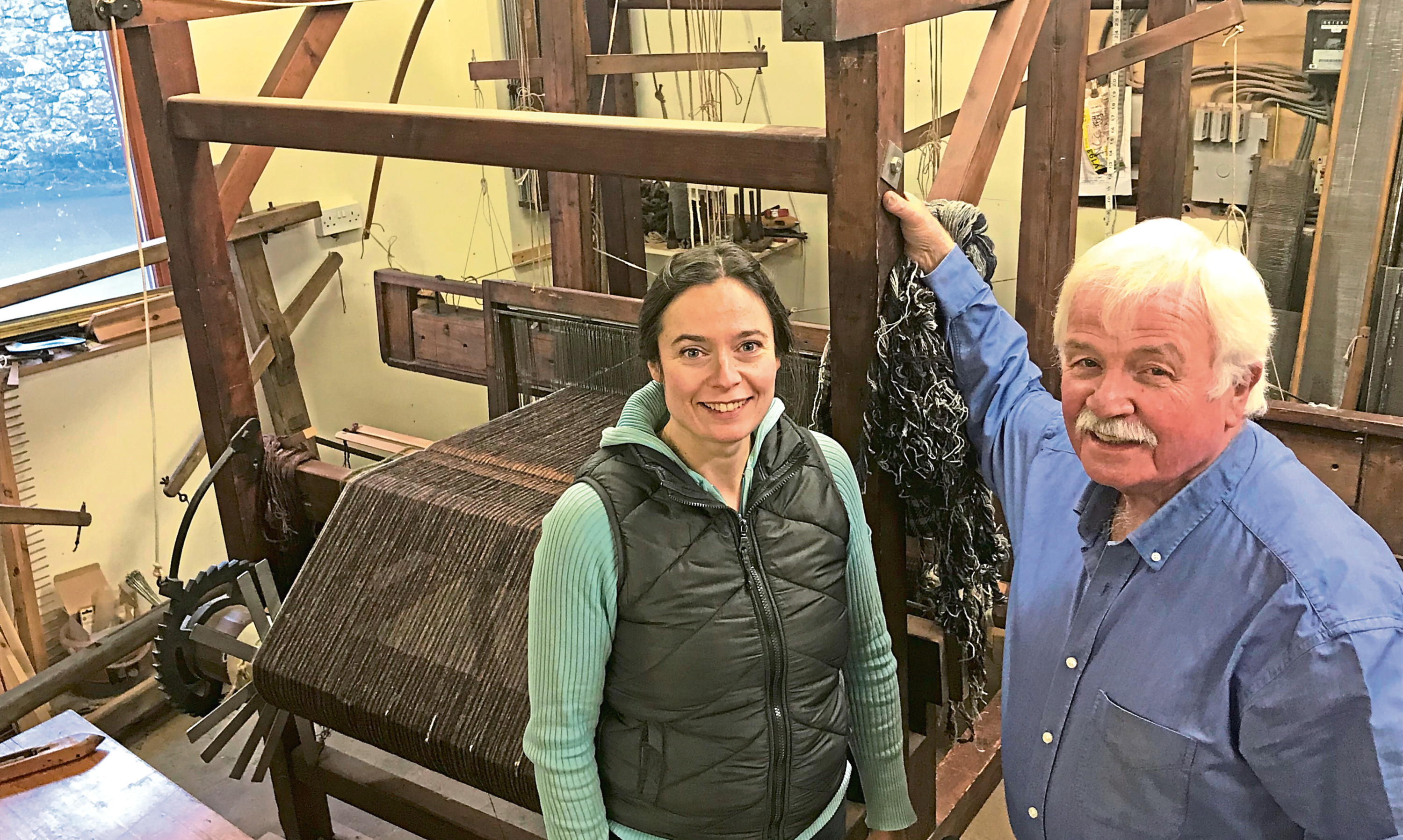 Erika Douglas and Jimmy Hutchison of Newburgh are handloom weavers