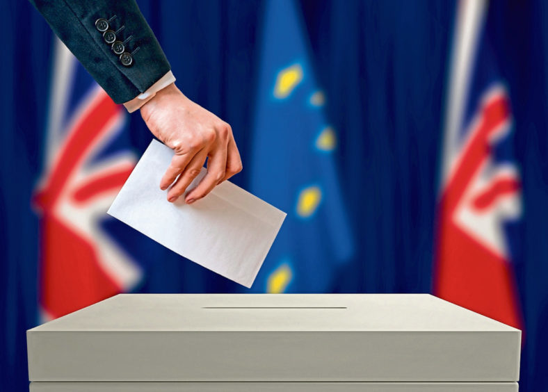 A Right to Vote survey says there is majority support for a second EU referendum in Scotland