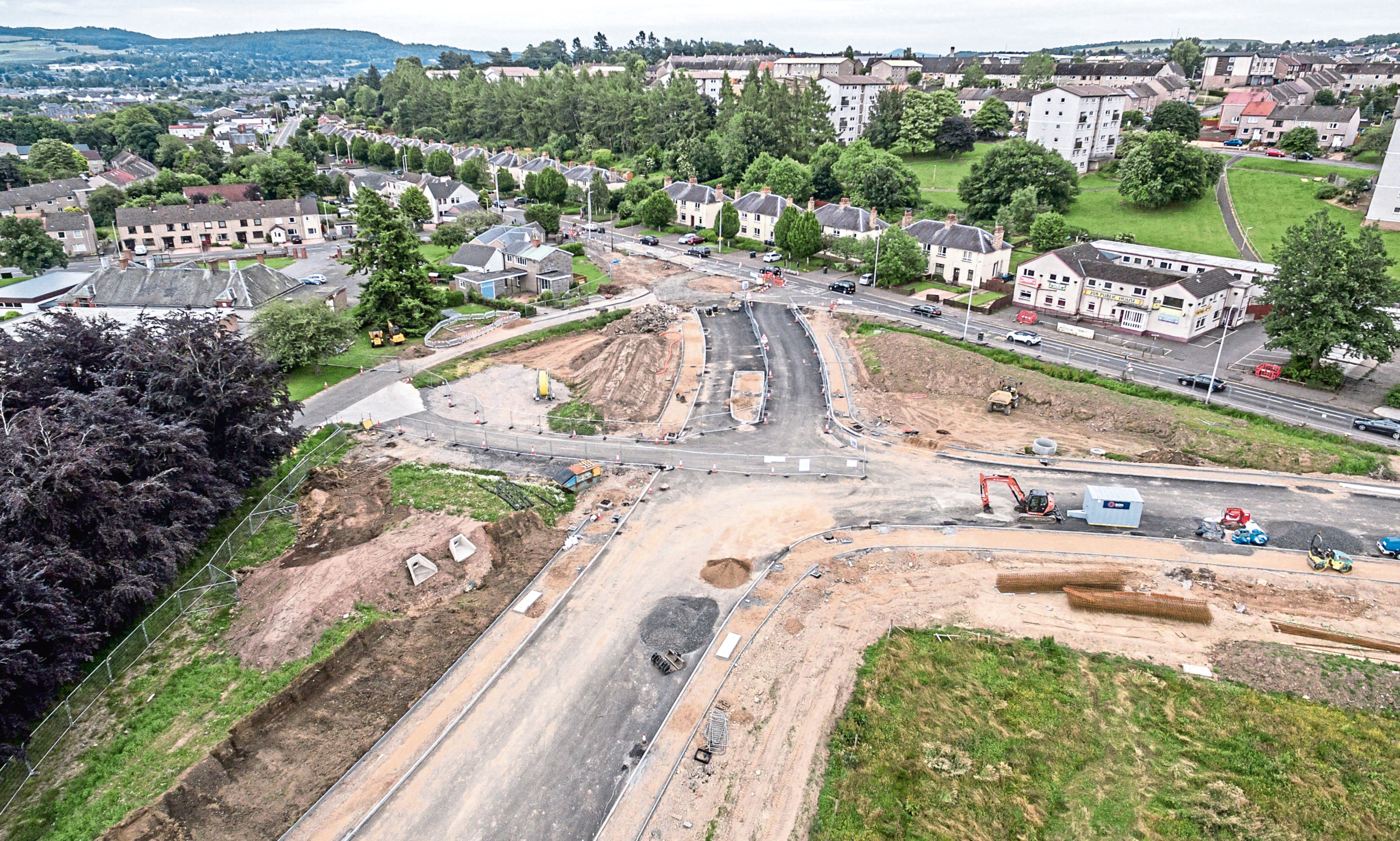A9/A85 Crieff Road junction improvements project for Perth and Kinross Council through the Scape framework