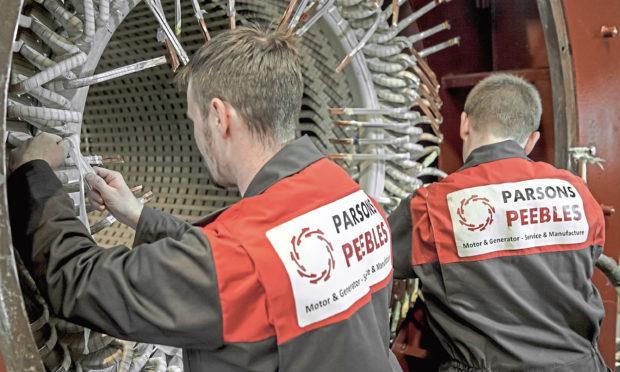 Parsons Peebles technicians at work