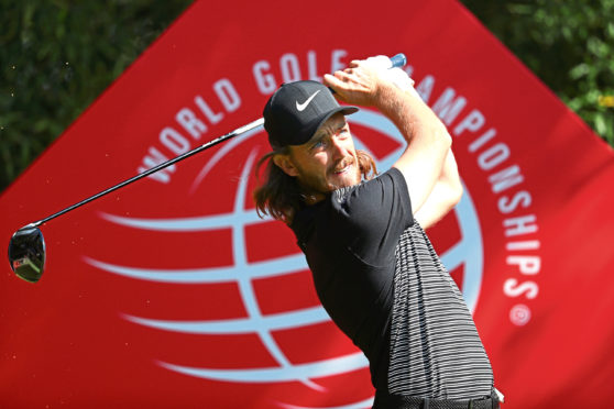 SHANGHAI, CHINA - OCTOBER 28:  Tommy Fleetwood of England plays his shot from the second tee during the final round of the WGC - HSBC Champions at Sheshan International Golf Club on October 28, 2018 in Shanghai, China.  (Photo by Matthew Lewis/Getty Images)
