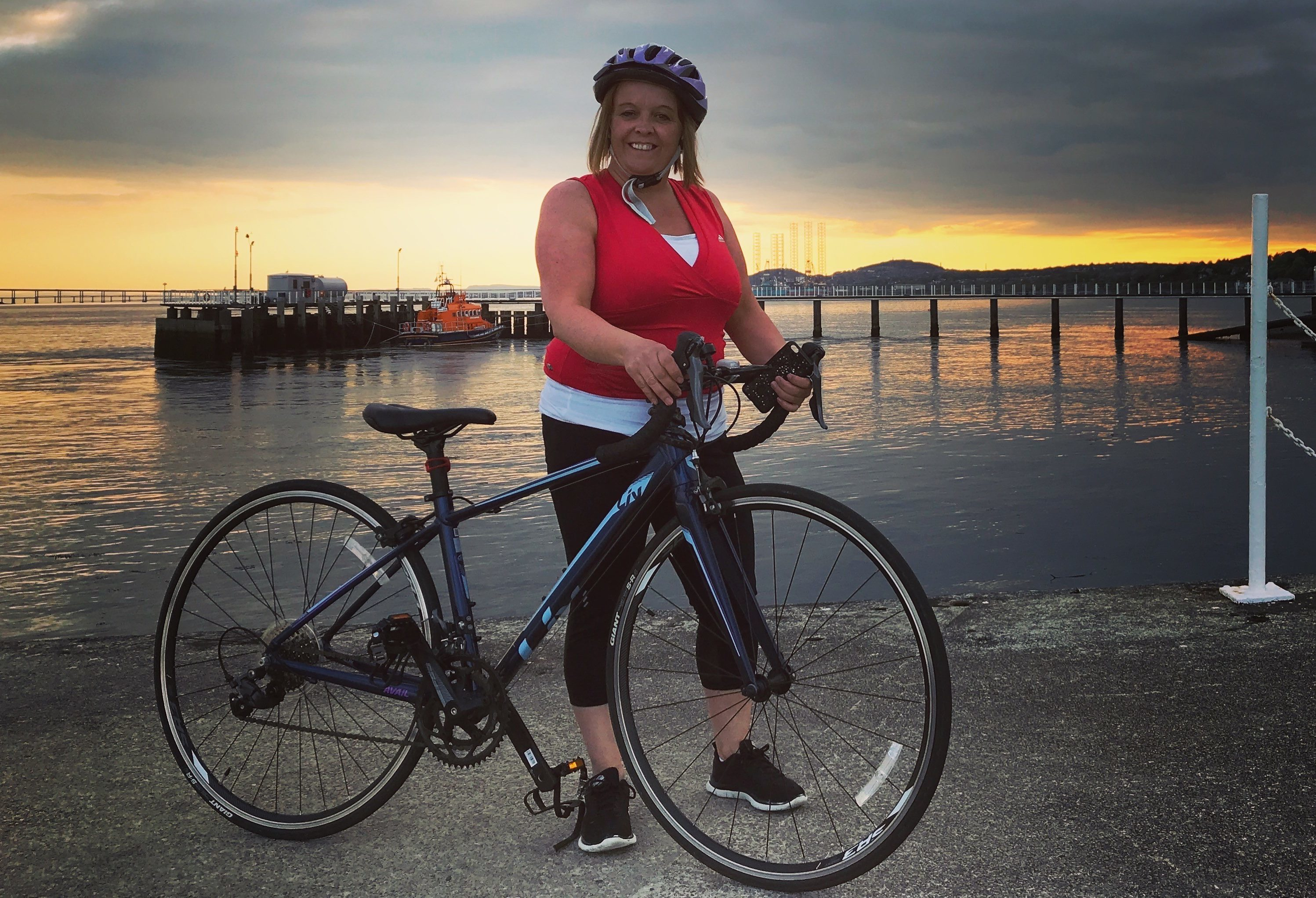 Jacqui in training in Broughty Ferry during the summer.