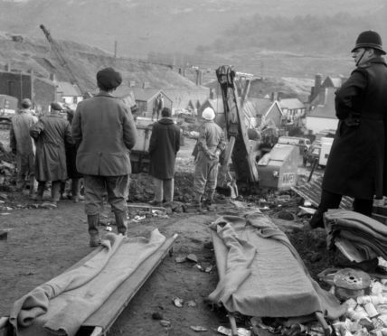 The wake of the disaster in 1966.