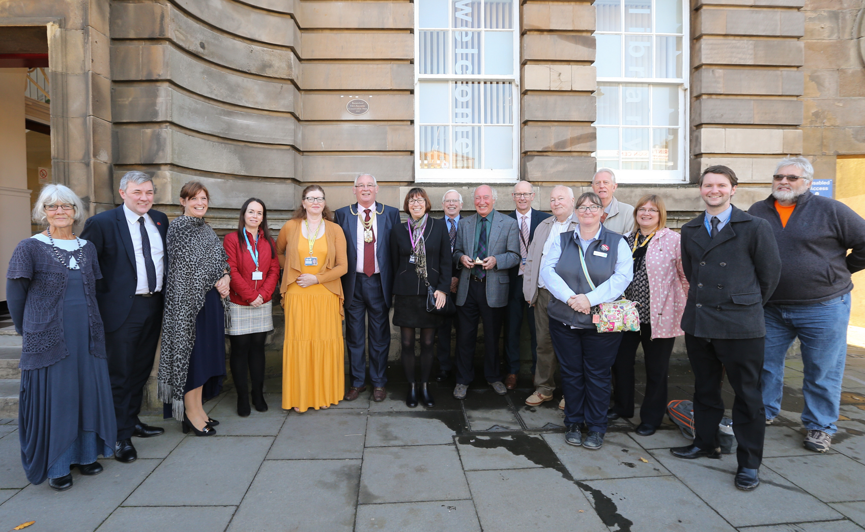 Local dignitaries gathered to mark Burntisland's status as Fife's favourite conservation area.