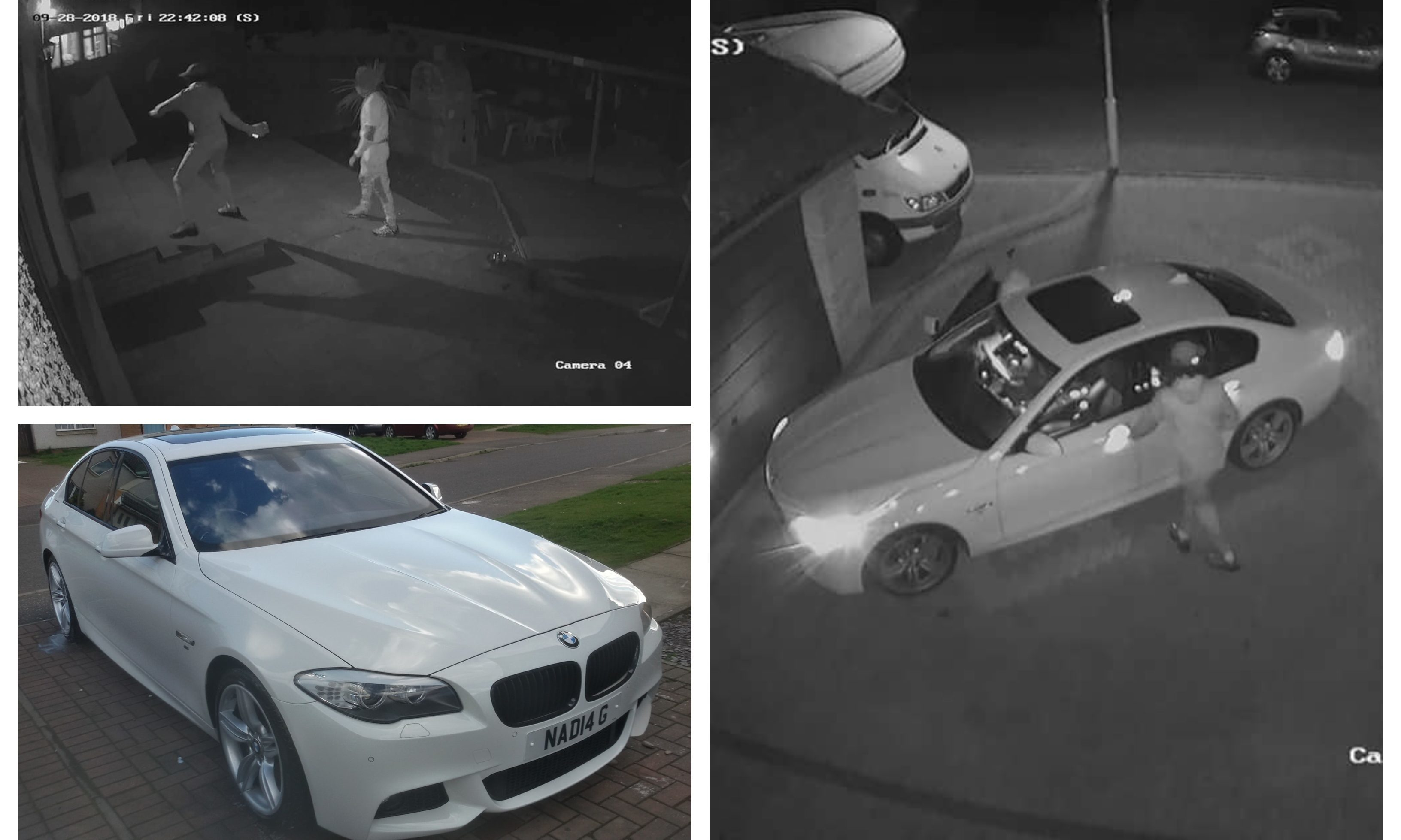 The BMW 535 M Sport which was stolen from Dunvegan Avenue on September 28.